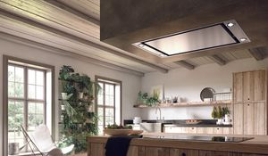 """STRTIS36SSNB Faber 36"""" Stratus Isola SS Island Range Hood with Perimetric Filter System and 4 Speed Electronic Controls - Stainless Steel"""