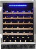 "SWC057D1BSS Danby 24"" Silhouette Stilton Single Zone Wine Cellar with 50 Bottle Capacity - Stainless Steel"