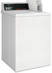 """SWNNC2SP115TW01 Speed Queen 26"""" Commercial Top Load Washer with Quantum Control and 27 Cycle Selections - White"""