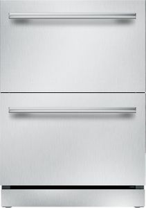 """T24UR910DS Thermador 24"""" Masterpiece Handle Double Drawer Refrigerator  with SoftClose"""