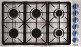 "TGC3601 Thor Kitchen 36"" Professional Gas Cooktop Cooktop with 6 Burners - Stainless Steel"