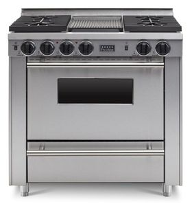 """TTN3327BW FiveStar 36"""" All-Gas Convection Range with 4 Sealed Burners and Grill/Griddle - Natural Gas - Stainless Steel"""