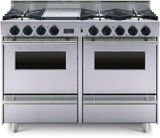 """TTN5117BW FiveStar 48"""" All-Gas Range with 6 Open Burners, Grill/Griddle and Double Oven - Natural Gas - Stainless Steel"""