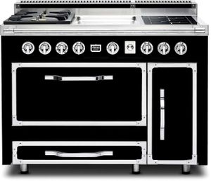 TVDR4802GIGB Viking Tuscany 48 Inch Pro-Style Dual Fuel Range with 2 20,000 BTU Gas Burners, Griddle and 2 Induction Elements - Natural Gas - Graphite Black