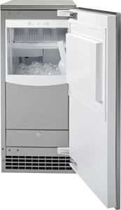 "UCC15NJII GE 15"" Built-In Gourmet Clear Ice Maker - Custom Panel"