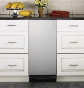 """UCG1520NSS GE Profile 15"""" 1.4 Cu. Ft. Built-In Trash Compactor - Stainless Steel"""