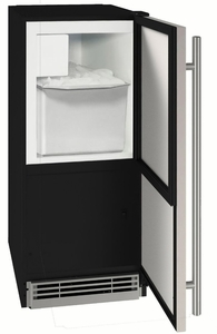 """UHCR115-SS01A U-Line 15"""" 1 Class Crescent Ice Maker - Stainless Steel"""
