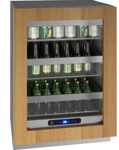 """UHRE524-IG01A U-Line 24"""" 5 Class Series Integrated Frame Undercounter Refrigerator with Variable Speed Compressor and Convection Cooling System - Reversible Hinge - Custom Panel"""