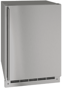 """UOFZ124-SS01A U-Line 24"""" Reversible Hinge Outdoor Convertible Freezer with Bright White LED Lighting and Digital Touchpad - Stainless Steel"""