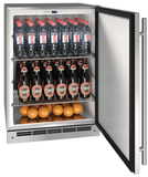 """UOKR124SS01A U-Line 24"""" Reversible Hinge Outdoor Keg Refrigerator with Bright White LED Lighting - Stainless Steel"""