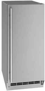 "UORE115-SS01A U-Line 15"" Outdoor Solid Refrigerator with Reversible Hinge and Digital Touch Pad Control - Stainless Steel"