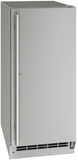 """UORE115SS31A U-Line 15"""" Outdoor Solid Refrigerator with Lock Reversible Hinge and Digital Touch Pad Control - Stainless Steel"""