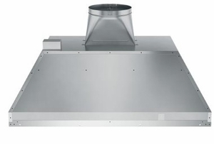 """UVC9360SLSS GE 36"""" WiFi Enabled Designer Custom Hood Insert with 610 CFM Adjustable Blower and Dimmable LED Lighting - Stainless Steel"""