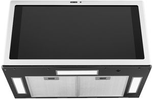 """UVH13014MWM GE 30"""" Profile Series Kitchen Hub Under Cabinet Hood with U+ Connect Smart Home App and Dual Camera System - 610 CFM - Matte White"""