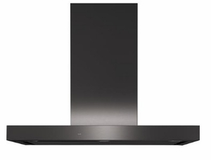 """UVW9361BLTS UVW9361SLSS GE 36"""" Designer Wall Mount Hood Wifi Enabled with Perimeter Venting - Black Stainless Steel"""