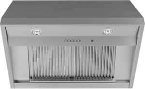 """UVW93642PSS GE 36"""" Commercial Wall Mount Range Hood - 590 CFM - Stainless Steel"""