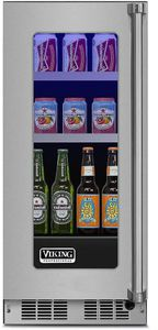 """VBUI5150GLSS 15"""" Viking Professional 5 series Undercounter Full Size Beverage Center with Electronic Controls and Dynamic Cooling Technologies - Left Hinge - Stainless Steel"""