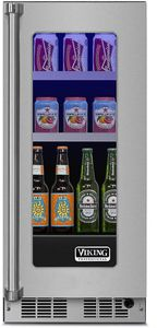 """VBUI5150GRSS 15"""" Viking Professional 5 series Undercounter Full Size Beverage Center with Electronic Controls and Dynamic Cooling Technologies - Right Hinge - Stainless Steel"""