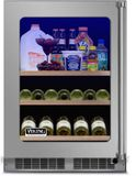 """VBUI5240GLSS 24"""" Viking Professional 5 series Undercounter Full Size Beverage Center with Electronic Controls and Dynamic Cooling Technologies - Left Hinge - Stainless Steel"""