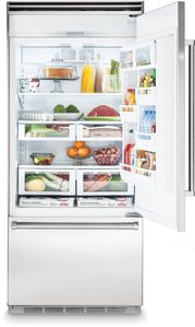 "VCBB5363ER Viking 36"" Professional Bottom Mount Refrigerator with ProChill Temperature Management - Right Hinge - Stainless Steel"