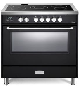 """VDFSEE365E Verona 36"""" Designer Series Electric Range with 5 Elements Ceramic Cooktop and Single Oven - Matte Black"""