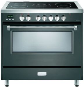 """VDFSEE365SG Verona 36"""" Designer Series Electric Single Oven with 5 Elements and Black Ceramic Cooktop - Slate Gray"""