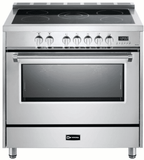 "VDFSEE365SS Verona 36"" Designer Series Electric Range with 5 Elements Ceramic Cooktops and Single Oven - Stainless Steel"
