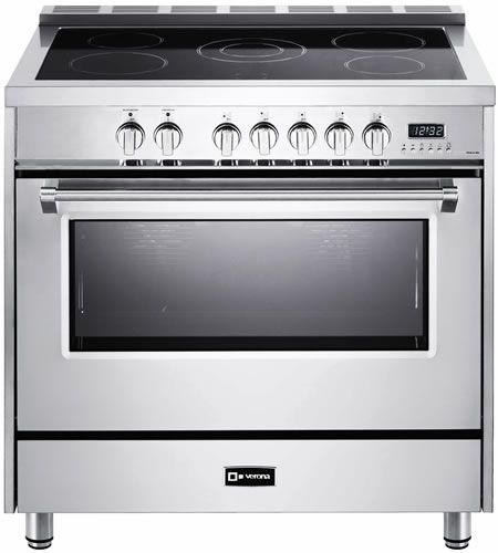36 Electric Range >> Vdfsee365ss Verona 36 Designer Series Electric Range With 5