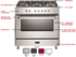 "VDFSGG365SS Verona Designer Series 36"" Gas Range with Single Oven and Infrared Broiler - Stainless Steel"
