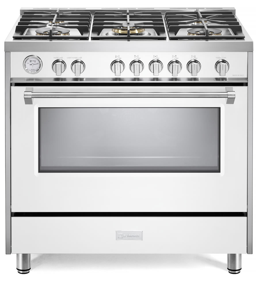 36 Gas Range >> Designer Series 36 Gas Range With Single Oven And Infrared Broiler White