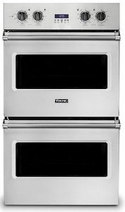 """VDOE130SS Viking 30"""" Professional 5 Series Built-In  Electric Double Select Oven with Exclusive Black Chrome Knobs and VariSpeed Dual Flow Convection System - Stainless Steel"""