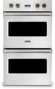 """VDOE130SS Viking 30"""" Professional 5 Series Built-In Electric Double Select Oven with Exclusive Black Chrome Knobs and VariSpeed Dual Flow Convection"""