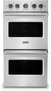 "VDOE527SS Viking 27"" Professional 5 Series Built-In Electric Single Premier Oven with Exclusive Black Chrome Knobs and VariSpeed Dual Flow Convection System - Stainless Steel"
