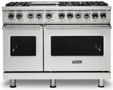 """VDR5486GSS Viking 48"""" Professional 5 Series Dual Fuel Range 6 Pro Sealed Burners and Griddle - Natural Gas - Stainless Steel"""