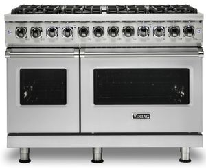 """VDR5488BSS Viking 48"""" Professional 5 Series Dual Fuel Range 8 Pro Sealed Burners - Natural Gas - Stainless Steel"""