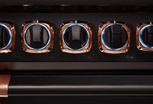 """VDR73626BBORG Viking 36"""" Limited Edition Professional 7 Series Dual Fuel Range with SureSpark Ignition System and Viking Elevation Burners - 6 Burners - Natural Gas  - Cast Black with Rose Gold Accents"""