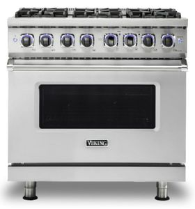 "VDR73626BSS Viking 36"" Professional 7 Series Dual Fuel Range with SureSpark Ignition System and Viking Elevation Burners - 6 Burners - Natural Gas  - Stainless Steel"