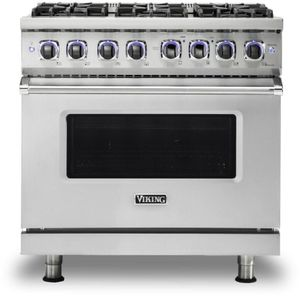 "VDR73626BSS Viking 36"" Professional 7 Series Dual Fuel Range 6 Elevation Burners - Natural Gas  - Stainless Steel"