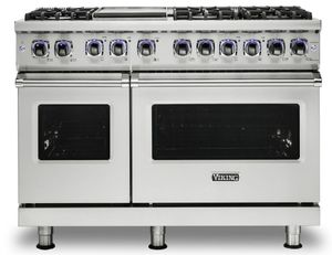 """VDR74826GSS Viking 48"""" Professional 7 Series Dual Fuel Range with 6 Elevation Burners and Griddle - Natural Gas  - Stainless Steel"""