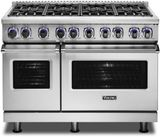 """VDR74828BSS Viking 48"""" Professional 7 Series Dual Fuel Range with 8 Viking Elevation Burners - Natural Gas  - Stainless Steel"""