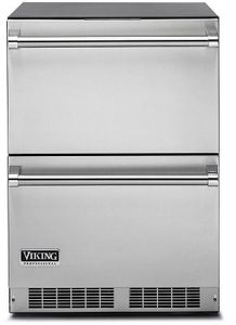 "VDUI5240DSS 24"" Viking Professional 5 Series Undercounter Refrigerated Drawers with Dynamic Cooling Technology and LED Lighting - Stainless Steel"
