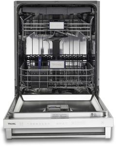 """VDWU324SS Viking 24"""" Built-In Dishwasher With Stainless Steel Panel and LCD Control Panel - Stainless Steel"""