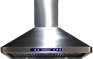 "VEHOOD36CH Verona 36"" Wall Mounted Range Hood with 600 CFM Blower and Halogen Lights - Stainless Steel"