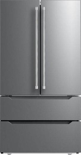 "VERF36CDSS Verona 36"" Freestanding Counter Depth French Door Refrigerator with Internal Ice Maker - Stainless Steel"