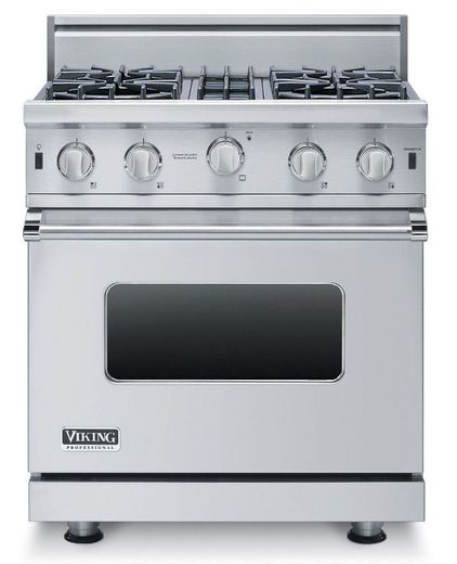 """VGIC53014BSS Viking Professional 5 Series 30"""" Open Burner Gas Range with VariSimmer on All Burners - Natural Gas - Stainless Steel"""