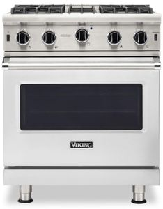 "VGIC53024BSS Viking Professional 5 Series 30"" Gas Range with VariSimmer on All Burners and BlackChrome Knobs - Natural Gas - Stainless Steel"