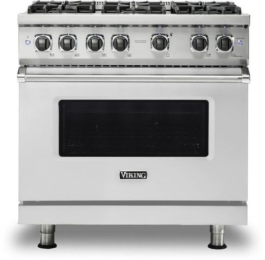 """VGR5366BSS Viking 36"""" Professional 5 Series Freestanding 6 Sealed Burner Gas Range with TruPower Plus and SureSpark  - Stainless Steel"""