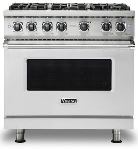 "VGR5366BSS Viking 36"" Professional 5 Series Freestanding Gas Range with 6 Sealed Burners - Stainless Steel"