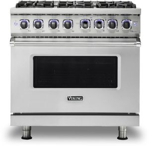 """VGR73626BSS Viking 36"""" Professional 7 Series Gas Range with 6 Elevation Burners - Natural Gas - Stainless Steel"""
