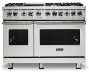 """VGR74826GSS Viking 48"""" Professional 7 Series Gas Range with 6 Elevation Burners and Griddle - Natural Gas - Stainless Steel"""